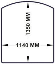 1350x1140 chair mat